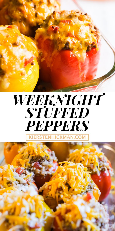 weeknight stuffed peppers recipe