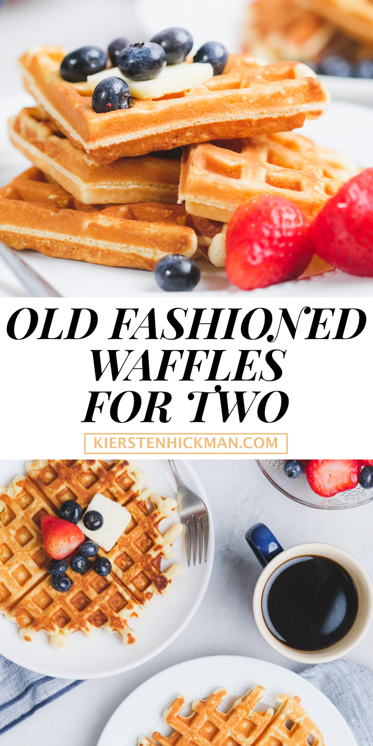 old fashioned waffle recipe for two